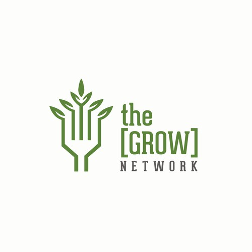 Natural logo concept for The Grow Network.