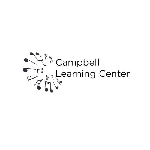 Minimal logo for a music school