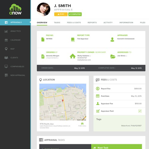 Mockup UI Design for Anow.com