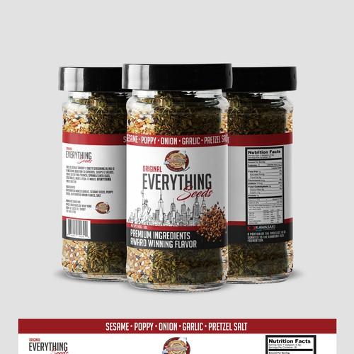 Bagel seeds packaging Design