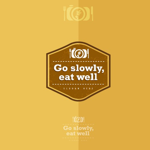 Go slowly, eat well needs a new logo