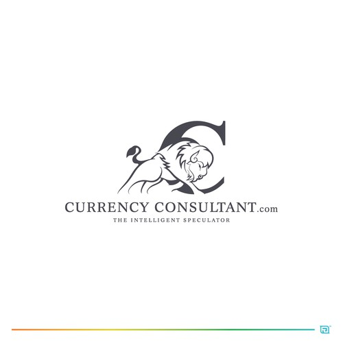 American Bison Logo for Currency Consultant company