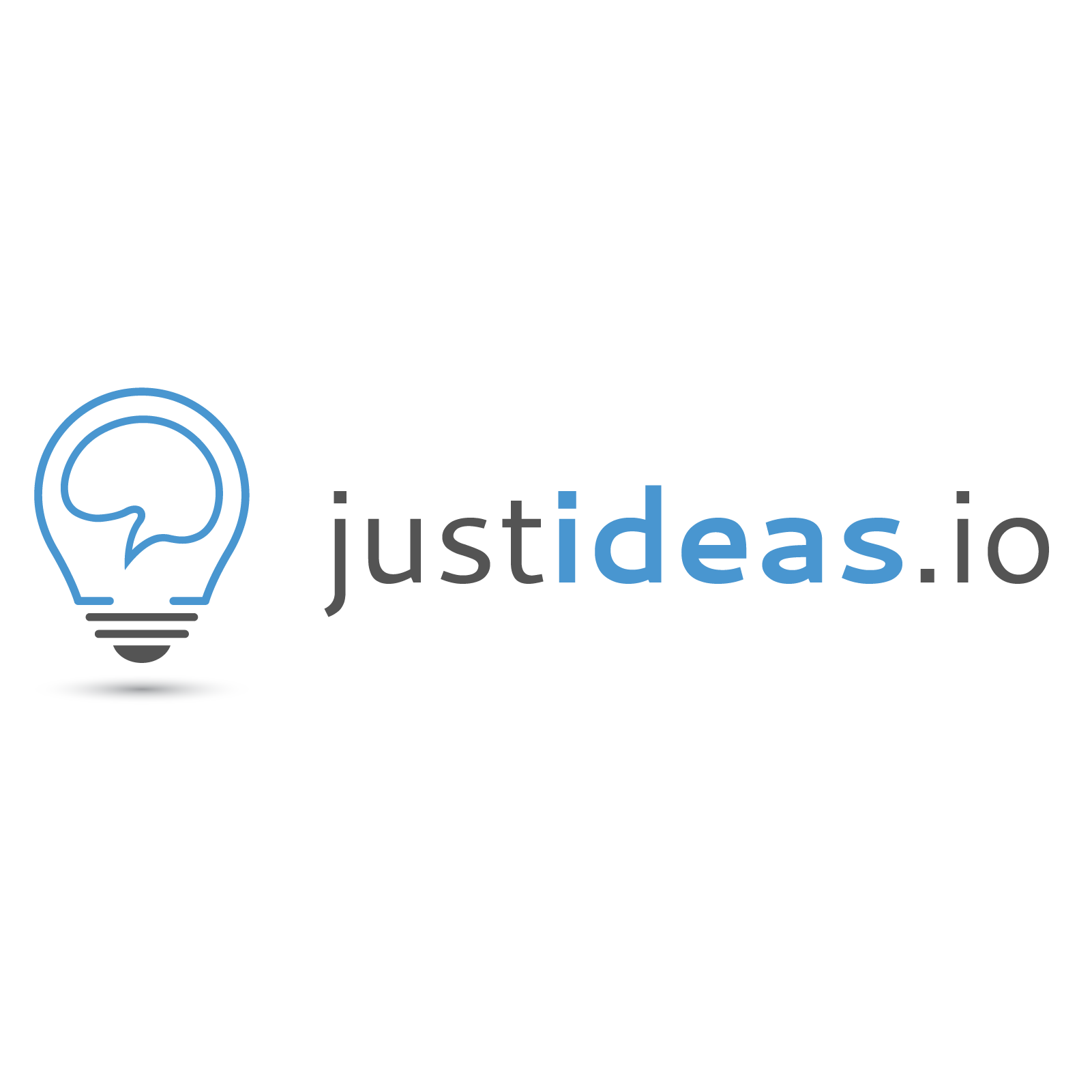 Logo design for blog: justideas.io