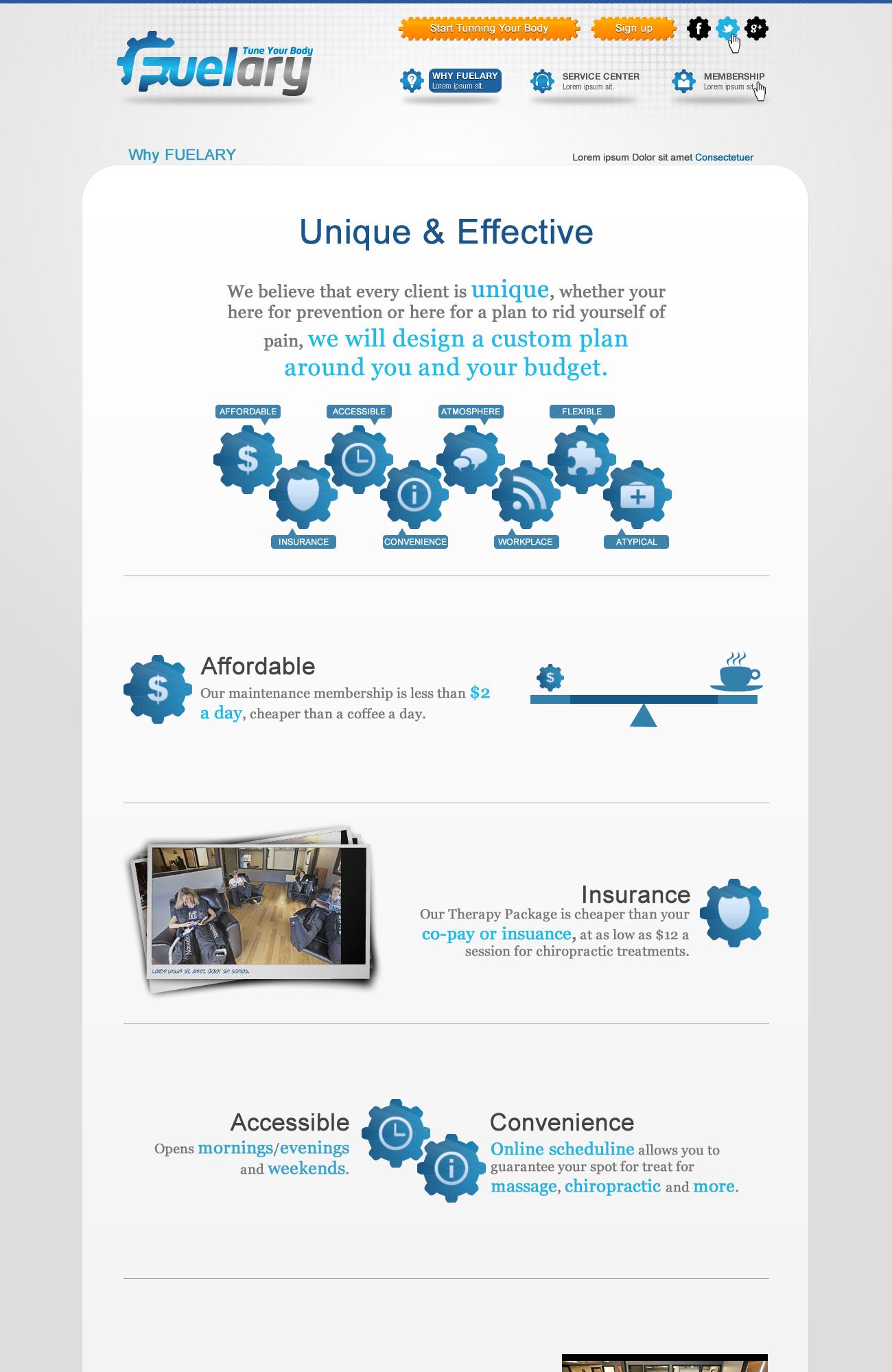 Create the next website design for Fuelary