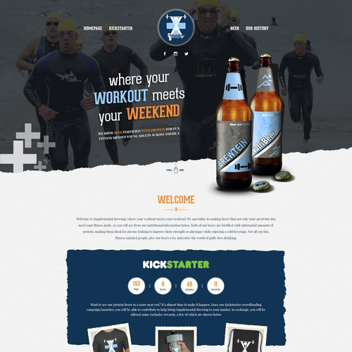 Homepage design for Supplemental Brewing