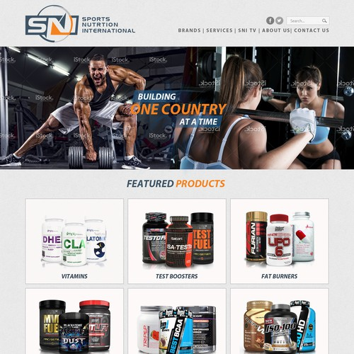 Website design for SN Sports