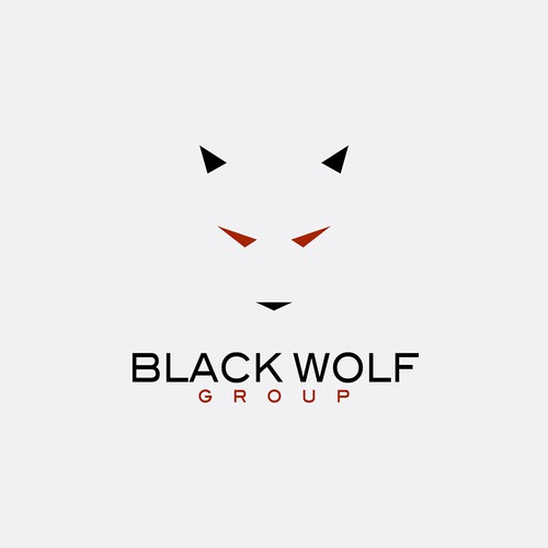 Creating an abstract wolf outline for Black Wolf Group