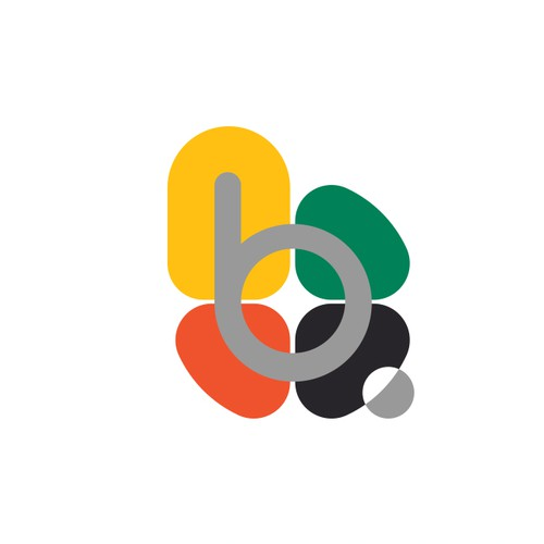 'b' letter colorful logo