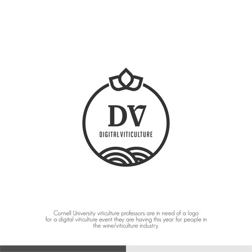 logo concept for digital viticulture