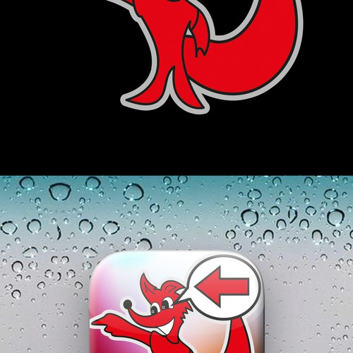 Logo für App mit Fuchs und Wegweiser