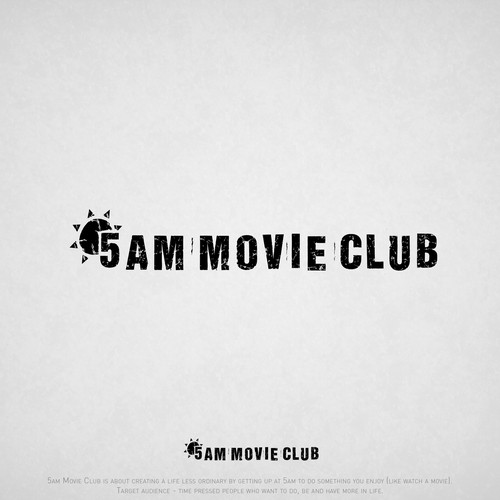typography logo for a movie club