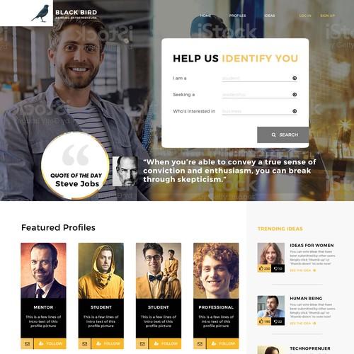 Web design for entrepreneur database