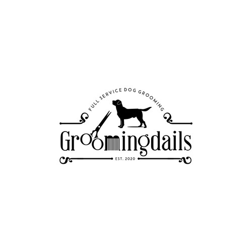 Logo for a dog grooming salon.