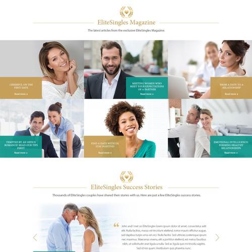 Home Page Design fo Elite Singles