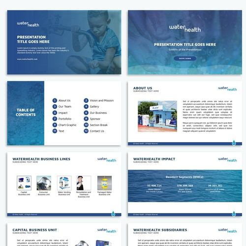 Water Company Powerpoint Template