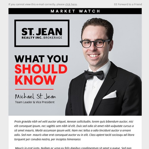 St. Jean Email design