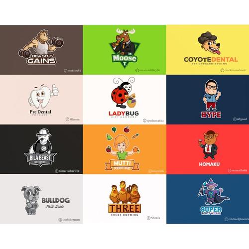 Logo mascots - Grid 2
