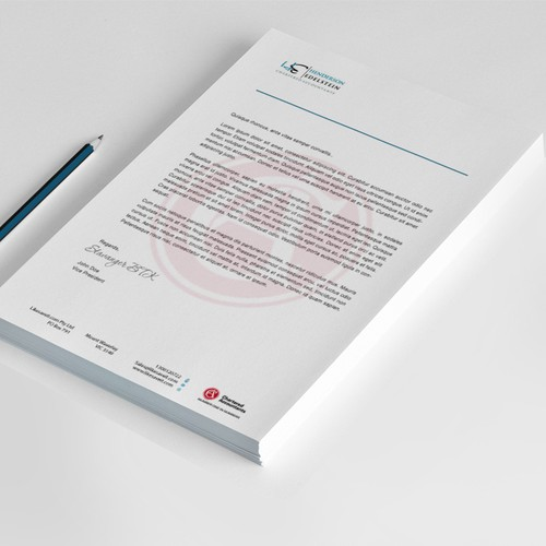 Letterhead design required for boutique accounting firm
