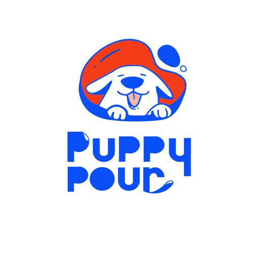 puppy logo for dog water product