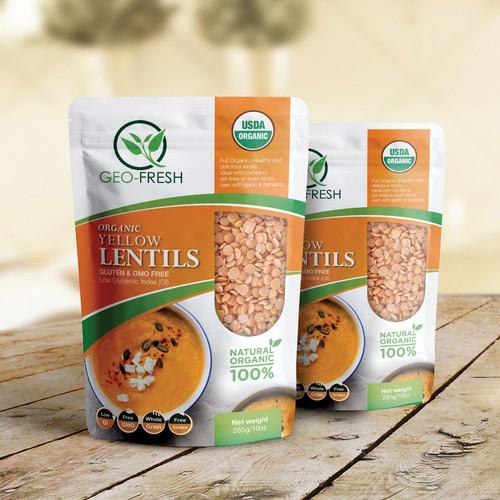 lentils package design