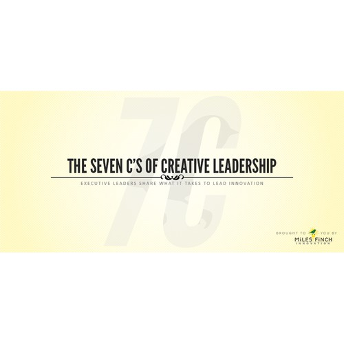 The Seven C's of Creative Leadership - Design our social media title image.