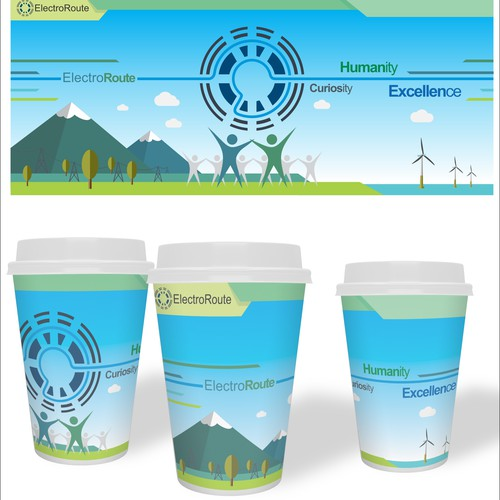 paper coffee cup for ElectroRoute