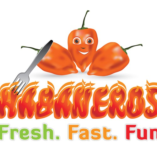 Create the next logo for Habaneros Food Truck