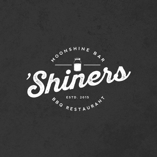 Logo concept for Shiners Moonshine Bar & BBQ Restaurant