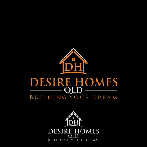 Create an eye catching and meaningful logo for Desire Homes Qld