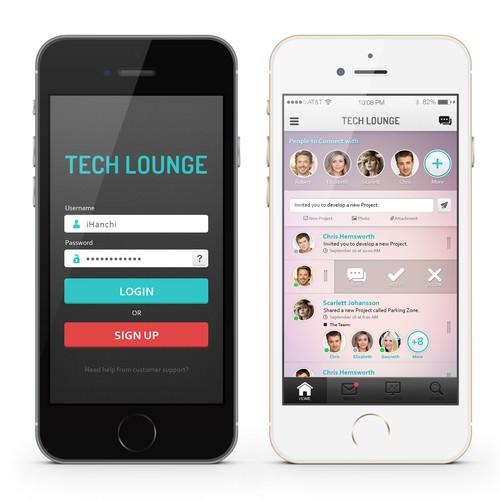 Tech Lounge App Concept