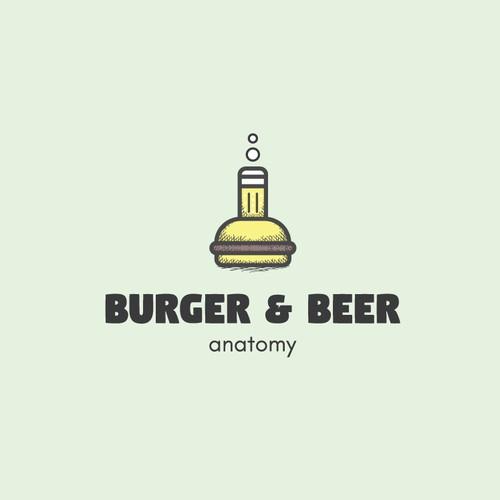 Logo concept for Burger&Beer