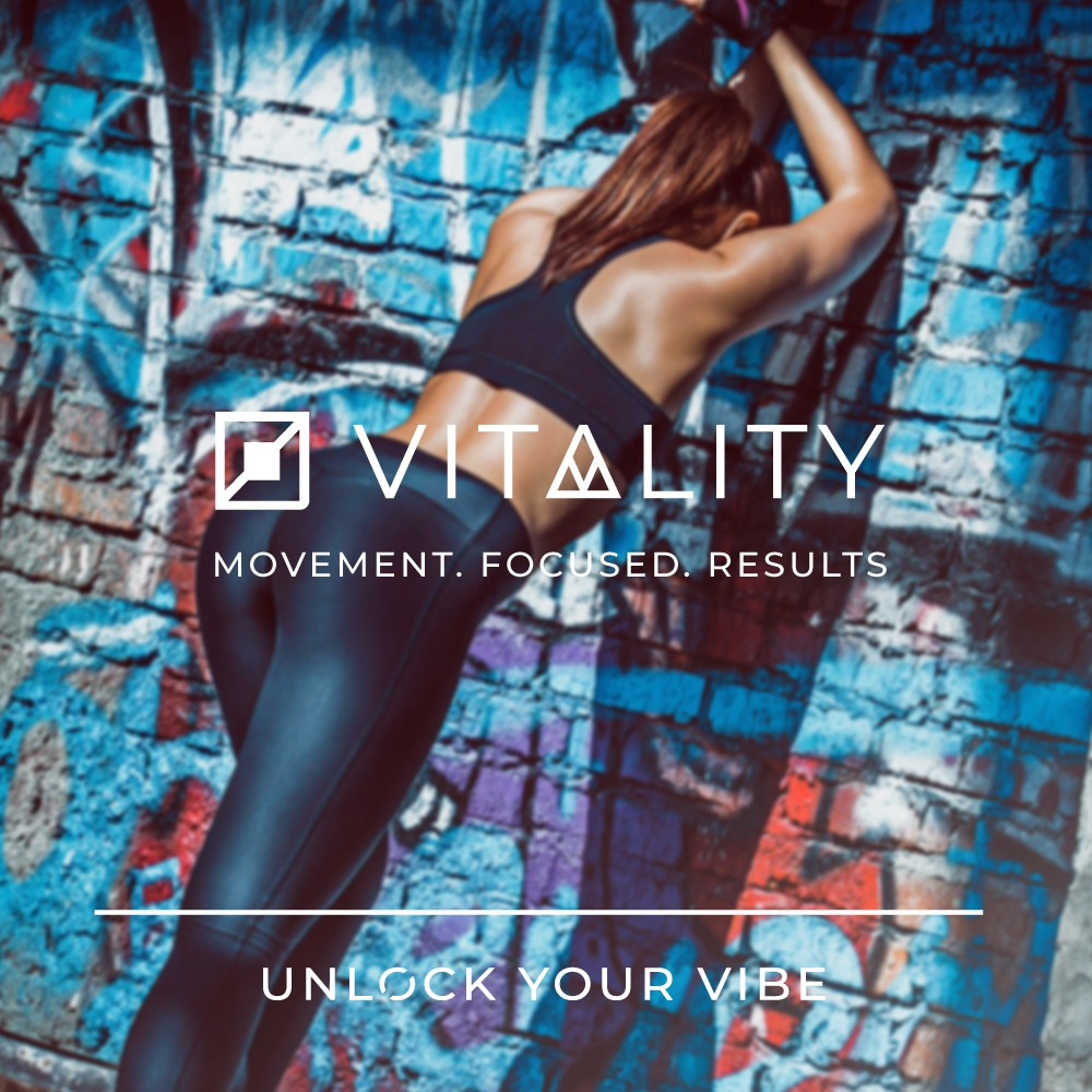 Vitality is seeking a powerful and trendy design that wears well on apparel too!