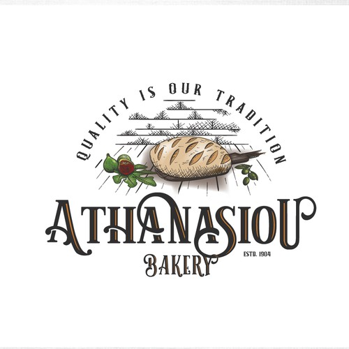 Logo for bakery in vintage style