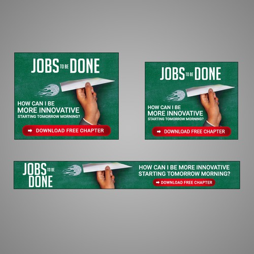 Web Banners for Book advertisement