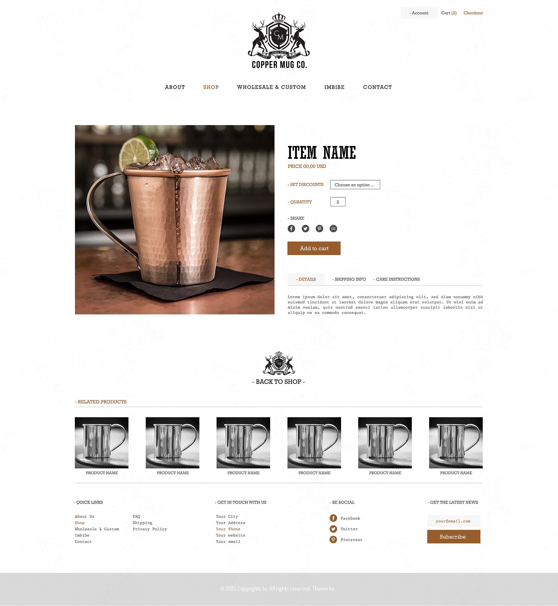 New website Design for coppermugs.com and copperbarware.com