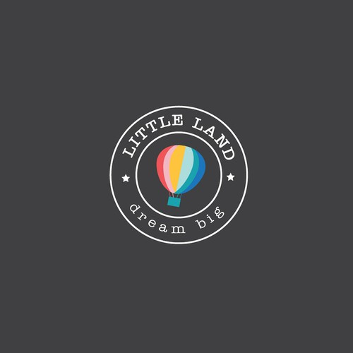 simple, colorful logo for the unique child play space