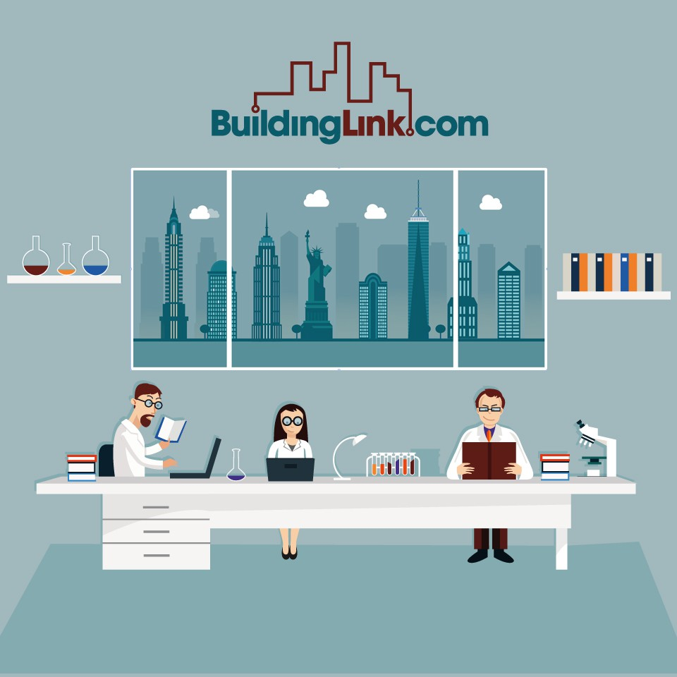 Create 3 graphics for an email newsletter for BuildingLink.com