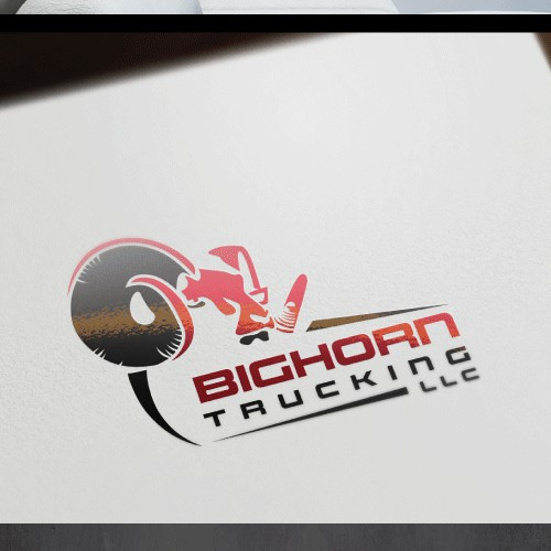 Create crisp, noticable logo design for Bighorn Trucking LLC