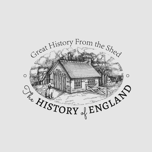 Create an inspiring illustration for the History of England podcast