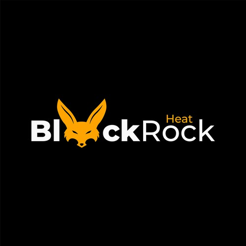 bold fox logo for Black Rock Heat