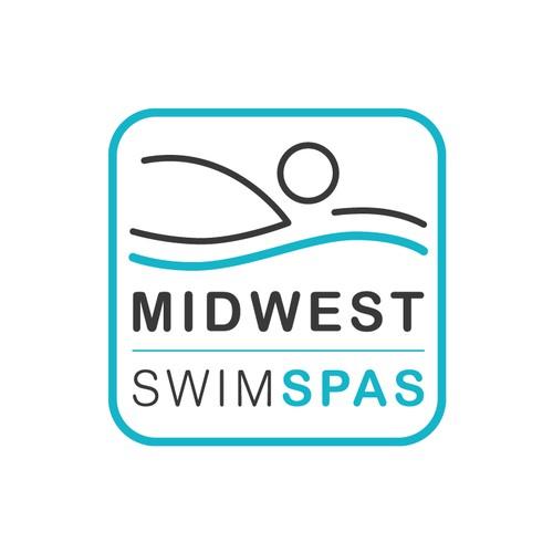 Minimal Logo for MidWest SwimSpas