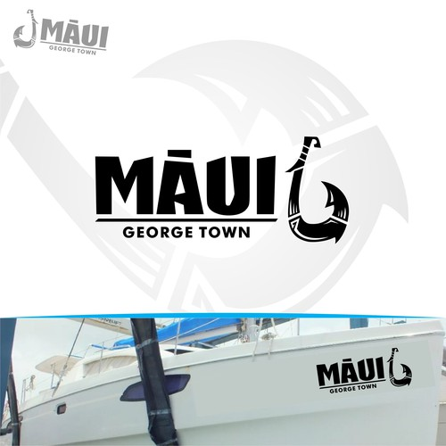 Boat logo and name