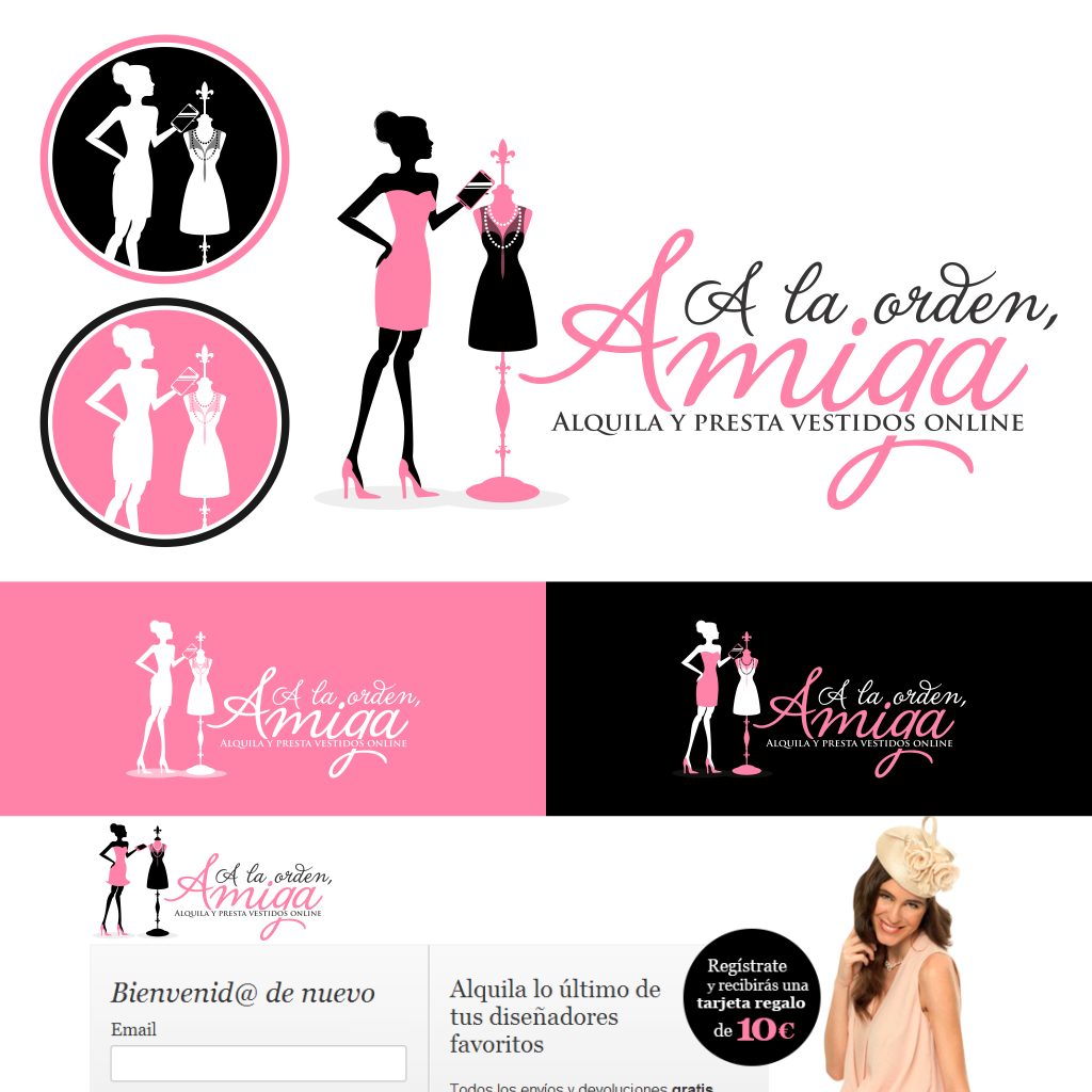 Create a playful logo for a dress-lending marketplace