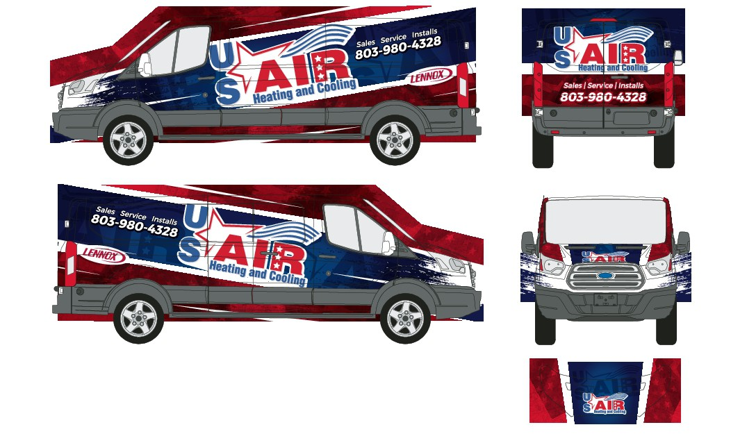 Catchy Truck wraps for an up and coming HVAC Company.