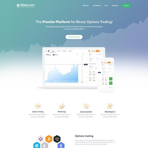 Binary.com re-design