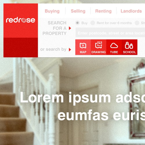 Website thematic search bar :: RedRose