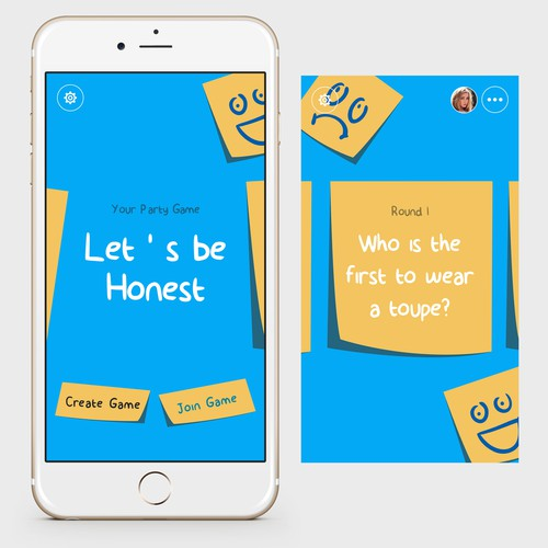 Create the look and feel of a hilarious new party game mobile app