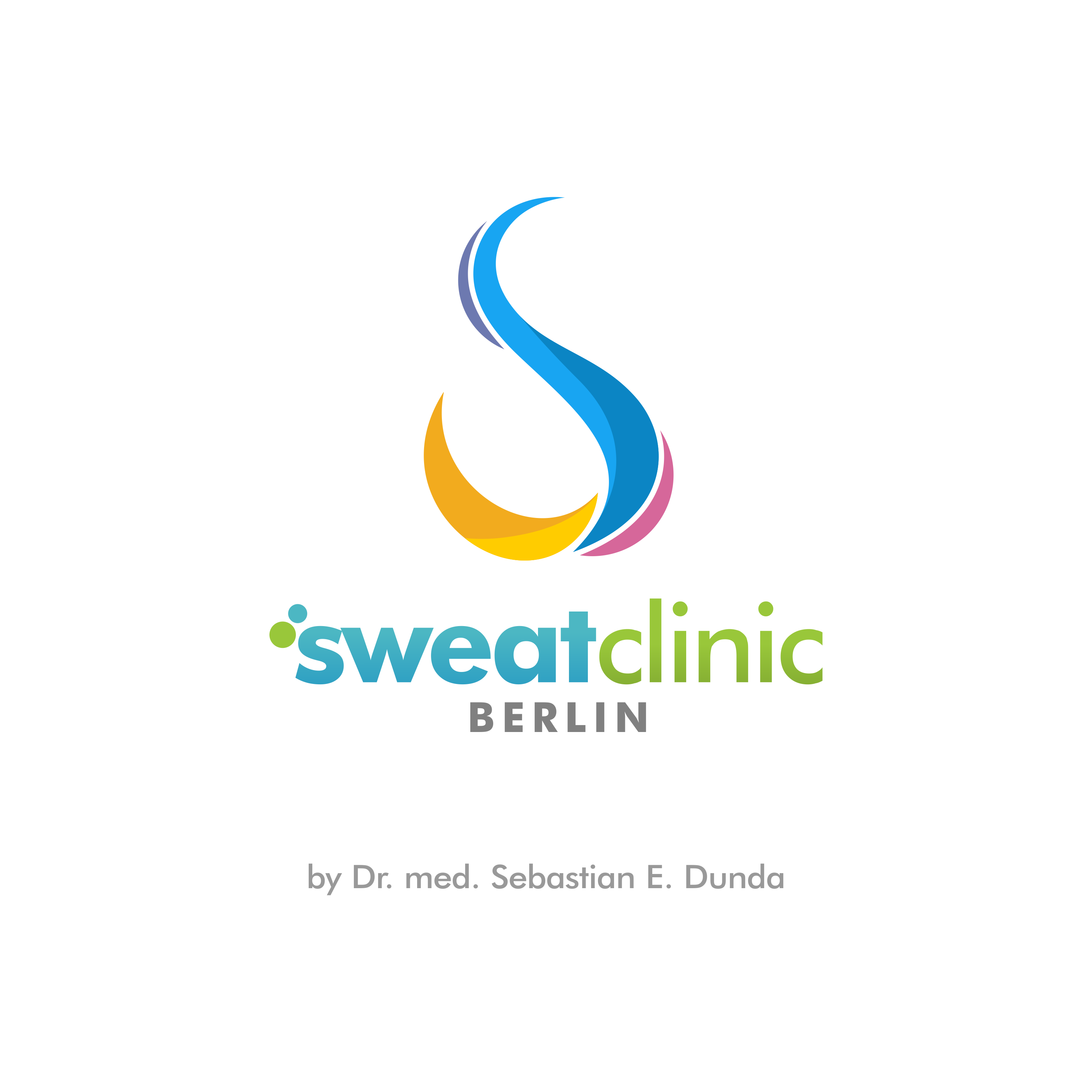 creative and colorful logo needed for treatment against sweating !