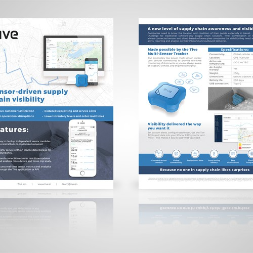1-page Brochure for Tive