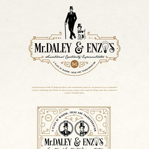 Mr. DALEY & ENZO'S LOGO PROPOSAL